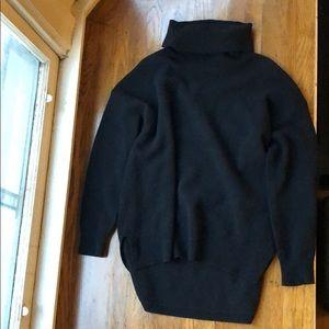 Black Madewell 100% Lambs Wool Turtleneck Sweater